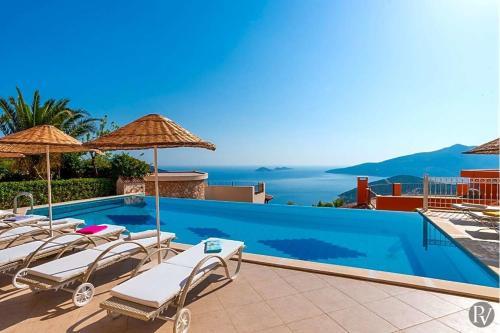 Kalkan Kalkan Villa Sleeps 10 Pool WiFi harita