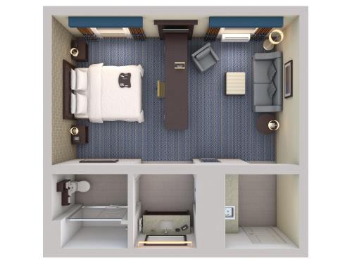 1 King Premium Studio with Microwvave/Fridge/Wet Bar Non-Smoking