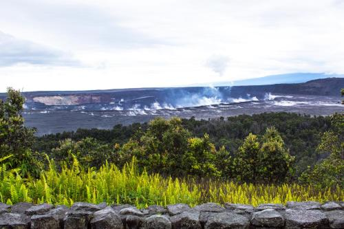 Crater Rim Drive, Hawaii Volcanoes National Park, Hawaii Island, United States.