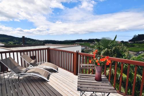 Habitación Doble Superior con terraza Hotel Quinta de San Amaro 12