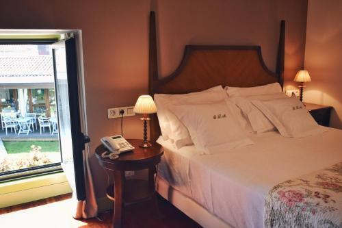 Habitación Doble Superior con terraza Hotel Quinta de San Amaro 6