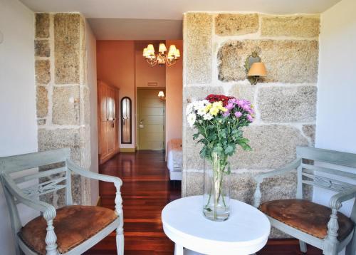 Habitación Doble Superior con terraza Hotel Quinta de San Amaro 3