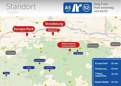 Europapark Deutschland Karte.Flat Strasbourg Europapark Wallaston Offenburg