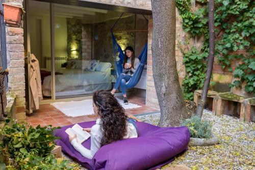Habitación Doble Deluxe con jardín privado Hotel La Freixera 11