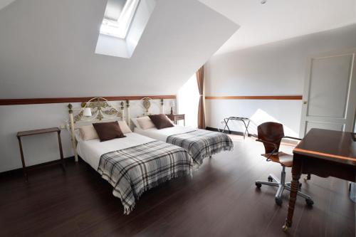 Doppel-/Zweibettzimmer mit Meerblick - Einzelnutzung Villa Antumalal B&B 3