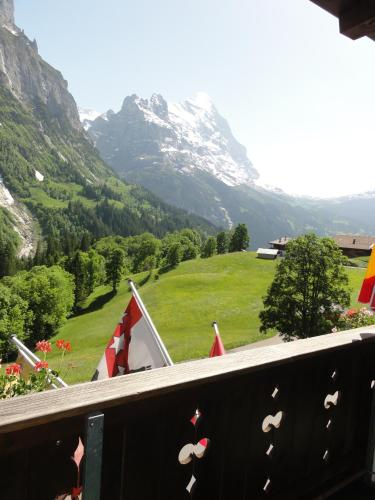 Cameră dublă cu balcon şi vedere la Eiger (Double Room with Balcony and Eiger View)
