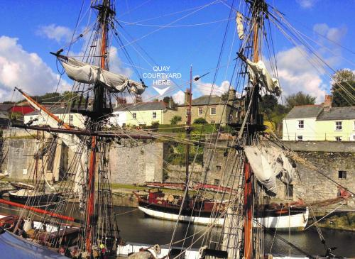 Quay Courtyard, Charlestown, Cornwall