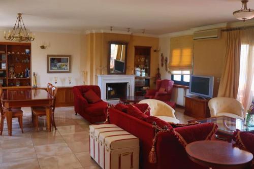 Luxury loft with panoramic view of Argostoli Laguna