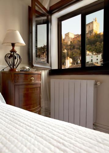 Doppel- oder Zweibettzimmer mit Blick auf die Alhambra Palacio de Santa Inés 16