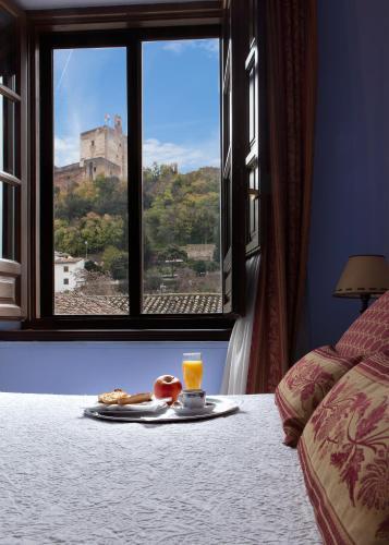 Doppel- oder Zweibettzimmer mit Blick auf die Alhambra Palacio de Santa Inés 14