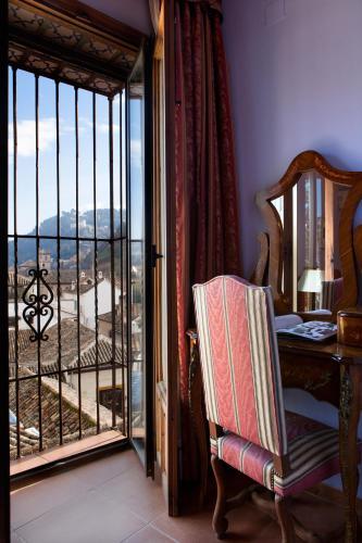 Doppel- oder Zweibettzimmer mit Blick auf die Alhambra Palacio de Santa Inés 15