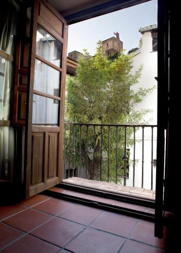 Doppel- oder Zweibettzimmer mit Blick auf die Alhambra Palacio de Santa Inés 17