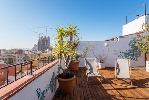 Exclusive Sagrada familia penthouse with sea views