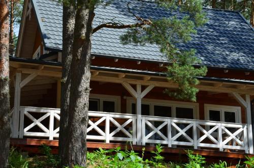 . Domki Kaszuby - jezioro las i zoo w Szarlocie
