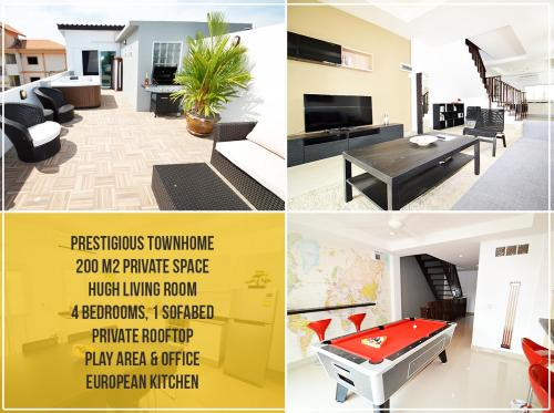 Private City Townhouse: Modern living Room, 4 Br, Rooftop, Billard, Private City Townhouse: Modern living Room, 4 Br, Rooftop, Billard, Bbq etc.