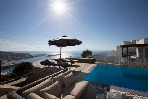 Psarrou villa for 10 guests, stunning sea views