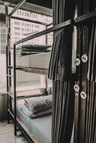 8 Bunk Bed  in Mixed Dormitory with Curtain and City View