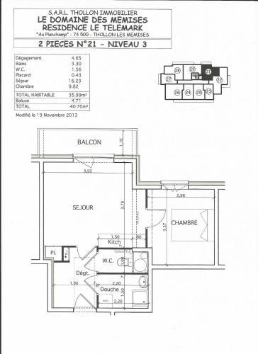 Le Telemark 21 - Apartment - Thollon-les-Mémises