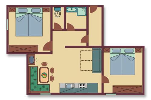 Large Two-Bedroom Apartment - Ground Floor