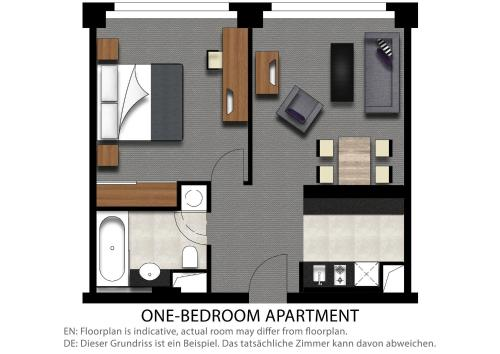 Premier One-Bedroom Apartment with Balcony