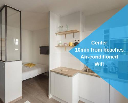 Nicelidays - Le Berlioz - city central - 7min from beaches - Hôtel - Nice