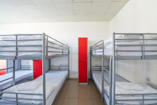 Bed in 12-Bed Dormitory Room with Shared Bathroom