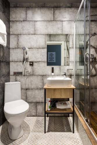 Отель Демут Двухместный номер с 1 кроватью или 2 отдельными кроватями и собственной ванной комнатой