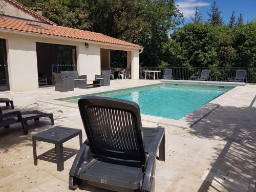 La Casita villa avec piscine prés d'Uzes - Accommodation - Saint-Laurent-la-Vernède