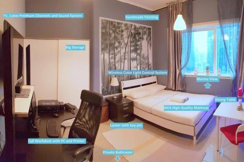 Master Room - Marina View - Private Bathroom