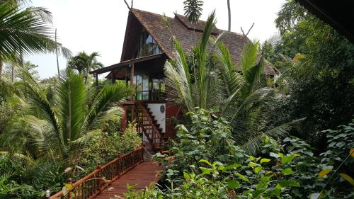 Thai style villa with private beach access Thai style villa with private beach access
