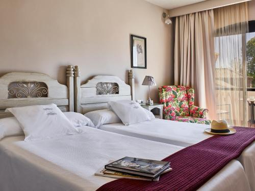 Twin Room with Garden View B bou Hotel La Viñuela & Spa 13