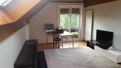 غرفة نوم في منزل فاخر في حي راقي بسويسرا, 1052 Le Mont-sur-Lausanne