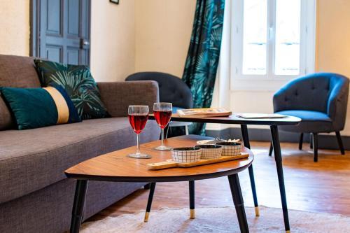 . Appartement Privé Climatisé entre Arènes et Maison Carrée
