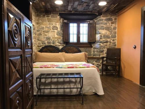 Habitación Doble adaptada para personas con movilidad reducida Casona de El Castañíu 1