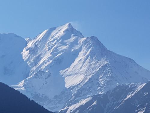 Studio avec vue sur le Mont Blanc Saint Gervais Les Bains