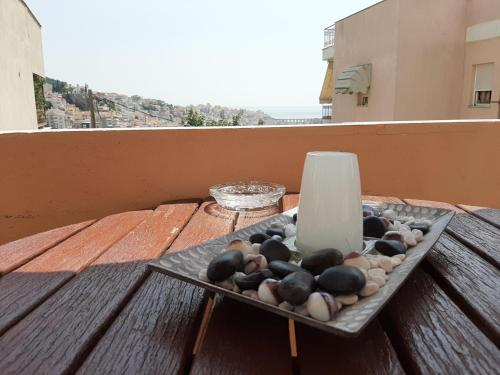 Apartment with Balcony City & Sea View+Parking in Kavala