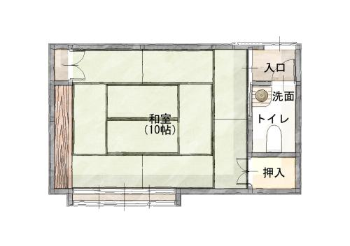 Japanese-Style Superior Room with Shared Bathroom and Private Toilet