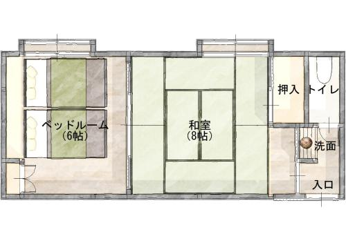 Superior Room with Tatami Area and Shared Bathroom and Private Toilet