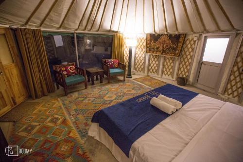 Roomy Yurts at Osho Thang Hotel, Northern Areas