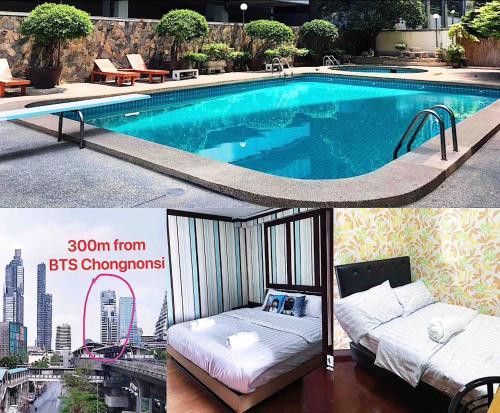 300m from BTS Chongnonsi.2Bedroom.2Bathroom.Cozy.Free Wifi.Pool.near 300m from BTS Chongnonsi.2Bedroom.2Bathroom.Cozy.Free Wifi.Pool.near Kingpower M