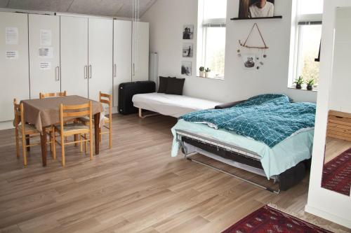 New built warm and cosy photostudio - own bath, toilet and entrance - Legoland is close by, Pension in Kolding