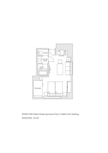 Deluxe Family Apartment (Up to 4 Adults)