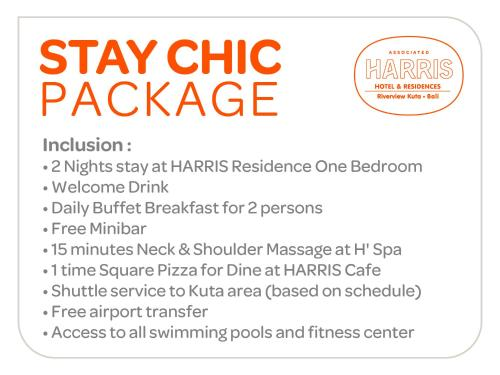 Paket Chic di HARRIS Residence 1-Kamar Tidur (Stay Chic Package at One-Bedroom HARRIS Residence)