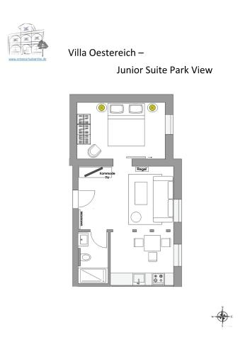 Suite Junior dengan Pemandangan Taman (Junior Suite Park View)