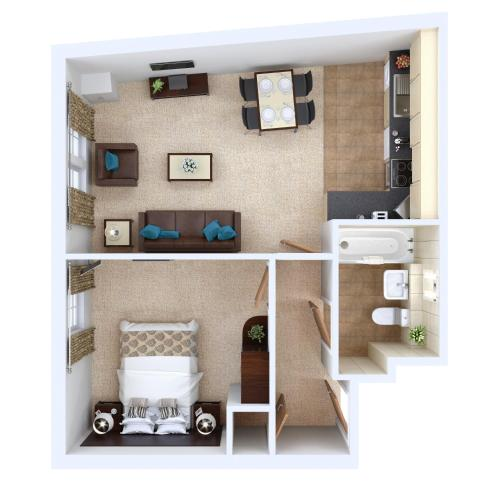 One-Bedroom Apartment Superior