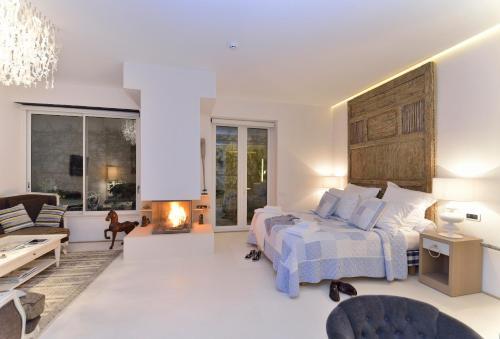 Suite exclusiva con chimenea privada Boutique Hotel Spa Calma Blanca 14