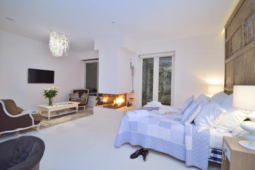 Suite exclusiva con chimenea privada Boutique Hotel Spa Calma Blanca 11