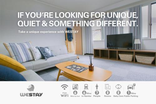 Westay Designers House/6 mins to Shinsaibashi206