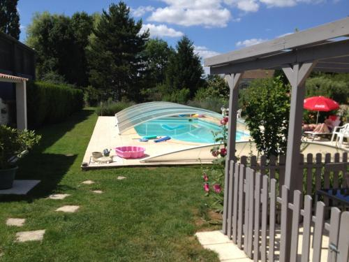 . Studio in SaintJeand'Angely with private pool enclosed garden and WiFi 40 km from the beach