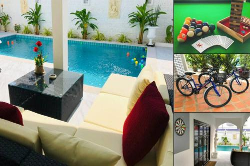 Villa 4 bedrooms, swimming pool, pool table, bikes, games... Villa 4 bedrooms, swimming pool, pool table, bikes, games...